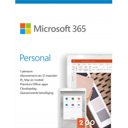 Office for home use: Microsoft 365 Personal 1User 1year